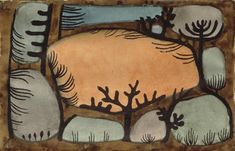 Paul Klee (1879-1940), Der Tag im Wald (The Day in the Forest), 1935 (39). Watercolour, gum arabic and brush and black ink on paper attached to the artist's mount. Image: 17.8cm H x 27.7cm W.