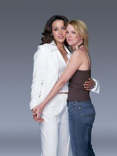 the famous white suit. Bette Porter and Tina Kennard  season one promo -- damn, I miss them