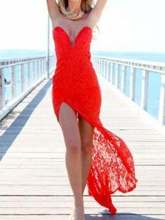 Red color pour un mariage tout en rougeur