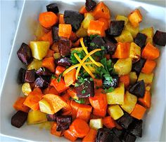 My Recession Kitchen...and garden: Roasted Vegetables with a Maple Orange Glaze