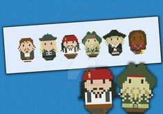 Mini People -Pirates of the Caribbean cross stitch by cloudsfactory.deviantart.com on @DeviantArt