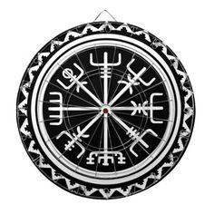 Viking Vegvisir Nautical Compass Dartboard With Darts