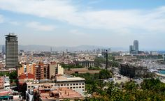 Panoramic view of downtown Barcelona