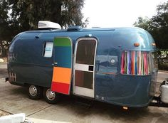 """Airstream Dreams on Instagram: """"@blueskycenter and @brodytravelsupply have created this amazing blue Argosy Airstream! Apparently you can win it too! See @blueskycenter for more details."""""""
