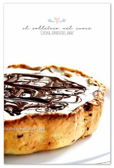 Crostata marmorizzata con nutella e mascarpone Nutella, Pasta, Breakfast, Ethnic Recipes, Food, Mascarpone, Morning Coffee, Essen, Meals