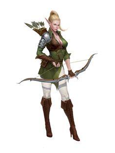 ArtStation - Elf, woman, archer, rudd / yongbin lee