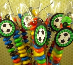 Soccer Balls - Candy Treat Bag Favors Set of 12