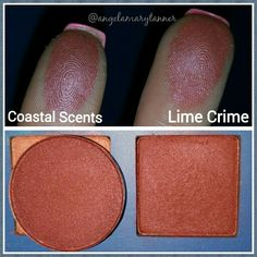 Dupes: Coastal scents scorched red and venus from the lime crime venus palette