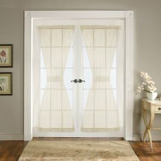 Lush Decor Ivory Breeze Door Panels (Set of (French Door Panels), Beige Off-White, Size 42 x 72 French Door Curtain Panels, French Door Windows, French Doors, Panel Curtains, Blinds For Windows, Windows And Doors, Window Blinds, Kitchen Window Treatments, Doors