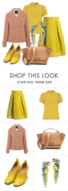 """""""Parrots"""" by glamheartcafe ❤ liked on Polyvore featuring Sans Souci, Dorothy Perkins, J.Crew, Bill Blass and Elizabeth Cole"""