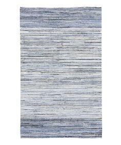 Another great find on #zulily! Sky Blue Denim Rug by Surya #zulilyfinds