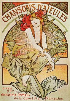 """Chansons d'aïeules"" by Alphonse Mucha"