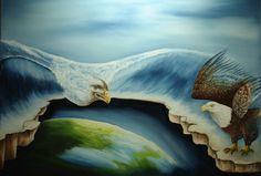"""""""Dreiging"""" olieverf op doek 80 x 60 cm www.adtolboom.nl adtolboom@hetnet.nl"""