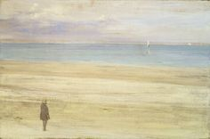 James Abbott McNeill Whistler.  Harmony in Blue and Silver: Trouville, 1865
