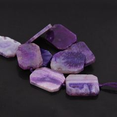 Material: Agate Shape: Rectangle Slab Size Full strand about inches. Purple Agate, Jewelry Findings, Dragon, Pendants, Etsy Shop, Beads, Gemstones, Crystals, Shape