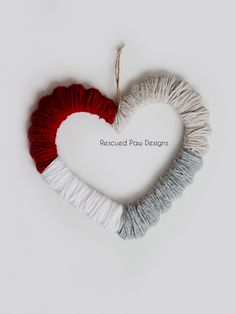 Yarn Wrapped Heart Craft :: Rescued Paw Designs