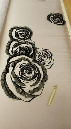 Design inspiration: Embroidery design for bodice, dress, blouse, tunic or jacket. Tambour Beading, Tambour Embroidery, Couture Embroidery, Embroidery Fashion, Hand Embroidery Patterns, Ribbon Embroidery, Beaded Embroidery, Floral Embroidery, Embroidery Stitches