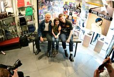 Slaves and fan at the Dr. Martens Derby store. Photographed by Mark Richards.