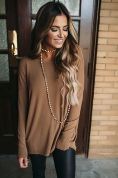 b0f5c635d363 Brown Beaded Necklace - Dottie Couture Boutique