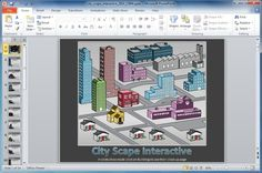 Cityscape Interactive PowerPoint Template