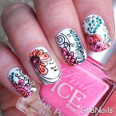 Summer Nails nail art by Gr8Nails