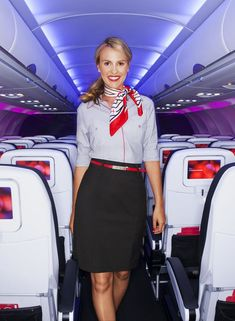 The flying experience in the and was one of high fashion, featuring flight attendants wearing designer dresses and neck scarves, and Virgin America airlines plans on bringing that back. With the help of Banana Republic, the airline has Banana Republic, Air France, Airline Booking, Airline Uniforms, Best Airlines, United Airlines, Virgin Atlantic, Airline Flights, Cabin Crew