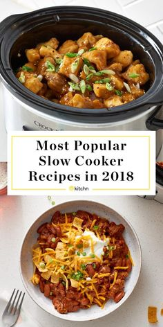 Most Popular Slow Cooker Recipes of If you're looking for recipes and ideas for easy and simple dinners and meals to make in your crockpot or crock pot, these filling recipes are the best of the Crock Pot Recipes, Healthy Crockpot Recipes, Casserole Recipes, Slow Cooker Recipes, Beef Recipes, Cooking Recipes, Broccoli Casserole, Crock Pot Dump Meals, Best Crockpot Meals
