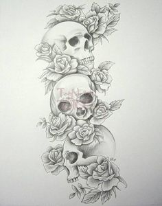 Skull Roses Sleeve By Daniellehope Tattoo Designs 11950, Tattoo-Designs Tattoo Gallery