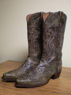 Dan Post size 8.5 8 1/2 D tan distressed 2231 El Paso cowboy boots #DanPost #CowboyWestern