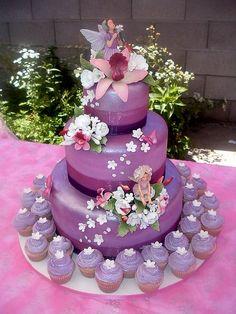 purple fairy cake - MCB statuettes More