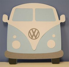 Designer Cuts : svg file - VW BUS (by Alissa Mortensen) Mais Ra Door Tags, Door Decs, February Baby, Garage Art, Volkswagen Bus, Fathers Day Cards, Scrapbook Embellishments, Paper Piecing, Silhouette Cameo