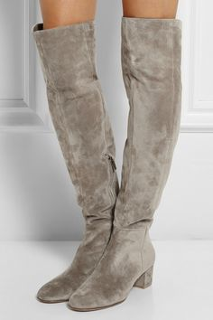 58a03c64c Gianvito Rossi - Suede over-the-knee boots