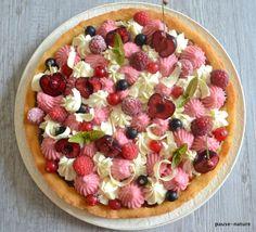 """Tarte fruits rouges-chocolat blanc sur palet breton (inspiration """"Fantastik"""" de Christophe Michalak"""