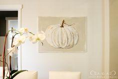 white pumpkin painting via emily at jones design company - beautiful!