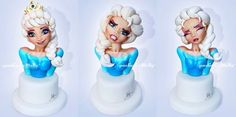 Molly Gum Paste Flowers, Frozen Cake, Sugar Art, Cake Tutorial, Cakes And More, Timeline, Cake Toppers, Elsa, Disney Characters