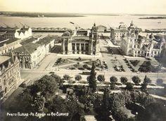 Praça da Alfândega (incorporou a antiga Praça Barão do Rio Branco) na década de 1930.