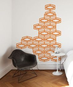 Take a look at this Light Orange Vintage Pattern Wall Decal by ADzif on zulily