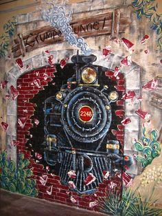 GrumpsTunnel Fort Worth, Murals, Painting, Image, Art, Wall Murals, Painting Art, Paintings, Kunst