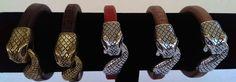 Collezione bracciali in cuoio con chiusura a serpente