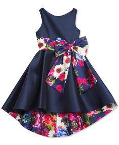 Toddler Girl Mikado Hi Low Dress