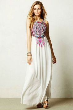 Mahina Maxi Dress By Anthropologie (simple but classy)