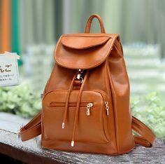Vintage Leather Backpack for Summer
