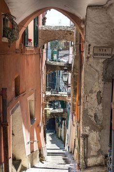 Via Roccobono, La Pigna, San Remo, Italy #VisitingItaly