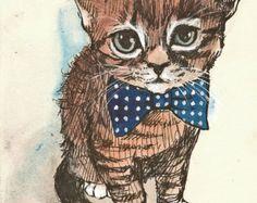 ARTURO THE CAT  ORIGINAL BY VALERIE VARGAS