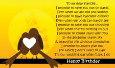 Birthday Poems For Fiancee