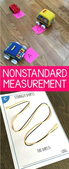 Nonstandard measurement activities that are easy to prep and engaging for your first grade students. Measurement is often an overlooked skill in math and
