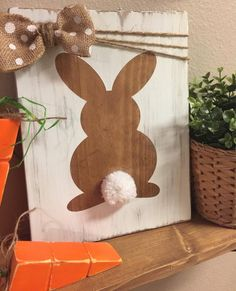 activities for toddlers outdoor Wood Easter sign Wooden Easter decor Easter bunny sign Wooden Easter decorations Rustic wood signs Wood bunny sign Spring Crafts, Holiday Crafts, Crafts To Sell, Diy And Crafts, Cadre Diy, Diy Ostern, Diy Easter Decorations, Easter Centerpiece, Thanksgiving Decorations