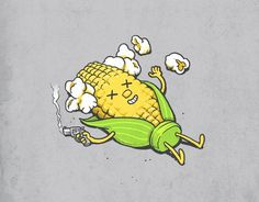 16 Super Ideas for humor grafico illustration funny Cute Puns, Funny Puns, Funny Cartoons, Funny Art, Funny Humor, Funny Geek, Geek Humor, Cartoon Art, Cute Cartoon