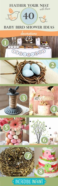 40 Bird Baby Shower Ideas to Feather Your Nest - Decoration Ideas - http://www.incredibleinfant.com