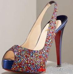 Can you fall in love with a pair of shoes? Wold it be cheating if I have two paris that I love? I love me some Christian Louboutin Slingback Shoes, Slingbacks, I Love My Shoes, Me Too Shoes, Christian Louboutin Sandals, Louboutin Pumps, Colorful Heels, Beautiful Shoes, Heels